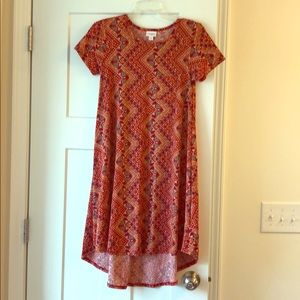 Lularoe Carly XXS Red Tribal Dress